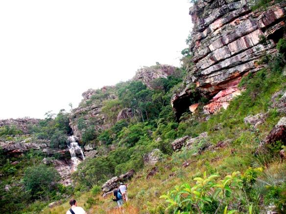 Vista da gruta de Pedro e Miúda (com cachoeira 'anexa') Foto Spirito Santo