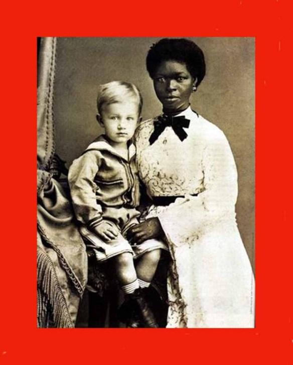 Aviso aos desavisados: O rico vestido da escrava, de alvo e impecável brocado, foi logicamente emprestado só para a foto