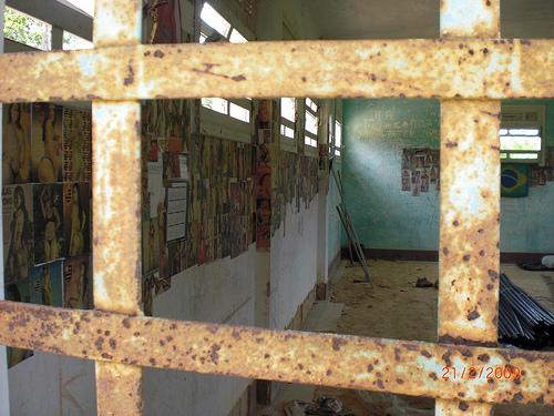 Presídio da Ilha Grande. Grades da cadeia velha