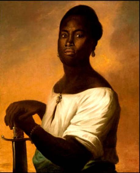 Homem negro com espada. 1640-1648 -autor deconhecido (talvez Albert Echout)