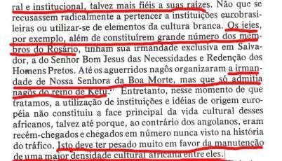 João Reis endeusando os nagô e minimizando a 'impureza' de seu catolicismo