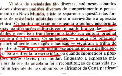 João Reis denegrindo o bantu e endeusando os sudaneses no mesmo discurso