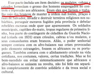 João Reis denegrindo os crioulos