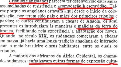 João Reis denegrindo os bantu e os crioulos