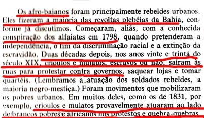 João Reis  tentando livrar a barra dos crioulos  mas se contradizendo