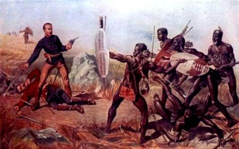 Guerreiros bantu 'covardões' liderados pelo 'submisso' Shaka Zulu na guerra dos 'pusilânimes' zulus contra os ingleses em 1879. Sei lá. Não sei do que João Reis está falando.