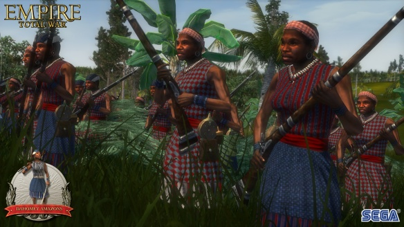 Dahomey Amazons em game 'War Empire'