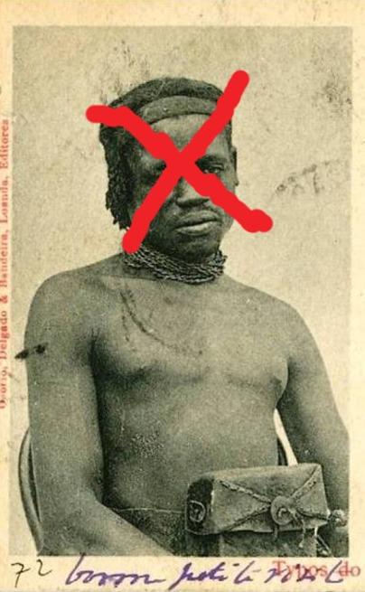 Postal angolano (Portugal) do século 19 (corte)