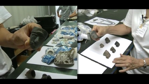Cachimbos de escravos achados no Valongo