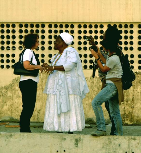 Cais do Valongo Tania Lima e mãe de santo -Foto José Carlos Soares -2012