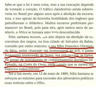 """Página do livro """"Escravos"""" do togolês Kangni Alem, 2011."""