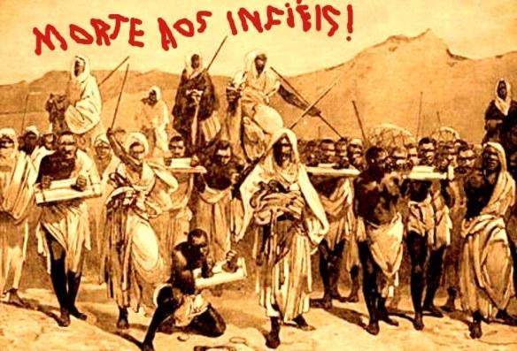 Esta gravura do século 19 mostra uma caravana de comércio de escravos árabe transportar escravos negros africanos através do Saara. O comércio de escravos trans-saariano desenvolvido nos séculos 7 e 8 como árabes muçulmanos conquistaram a maior parte do norte da África. O comércio cresceu de forma significativa a partir do 10 para o século 15 e atingiu o pico em meados do século 19.